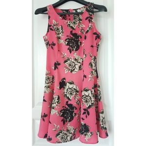 Divided Vintage Sleeveless Rose Flare Dress Size 6